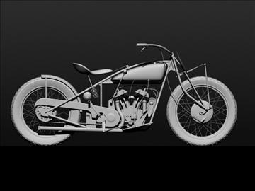 indian flat track racer 1930 3d model 3ds max c4d obj 106405