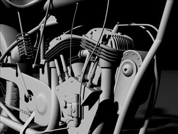 indian flat track racer 1930 3d model 3ds max c4d obj 106406