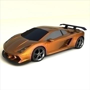 lamborghini gallardo customized 3d model max 100896