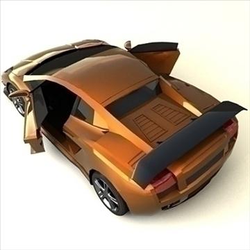 lamborghini gallardo customized 3d model max 100900