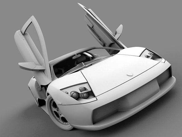 lamborghini murcielago 3d modell 3ds max obj 124715