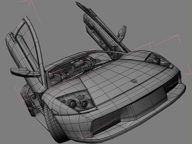 lamborghini murcielago 3d modell 3ds max obj 124720