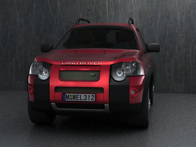 land rover freelander 3d model 3ds max 124882
