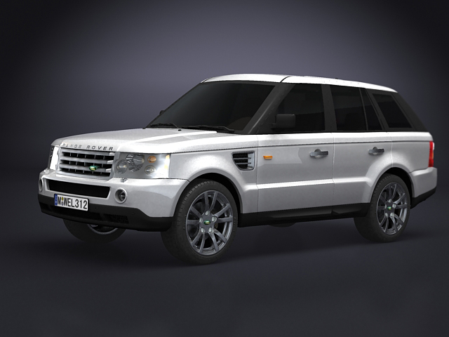 land rover range rover 3d model 3ds max obj 124925