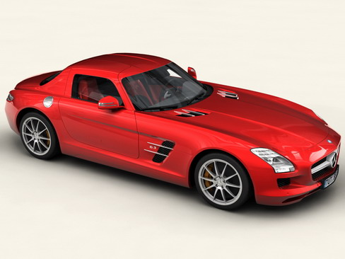 mercedes sls 2011 3d model 3ds max c4d lwo ma mb obj 118219