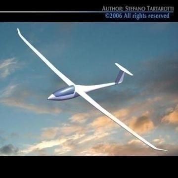 nimbus glider 3d model 3ds dxf obj other 78048