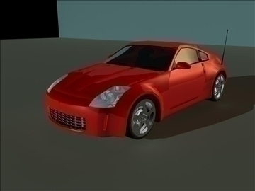 nissan 350z low poly shell 3d model ma mb 102221