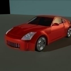 Nissan 350Z Low Poly Shell ( 32.84KB jpg by Solo_Powers )