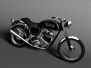 norton 850 commando 3d model 3ds max c4d obj 105330