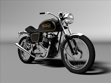 norton 850 commando 3d model 3ds max c4d obj 105331