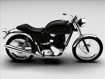 norton 850 commando 3d model 3ds max c4d obj 105332