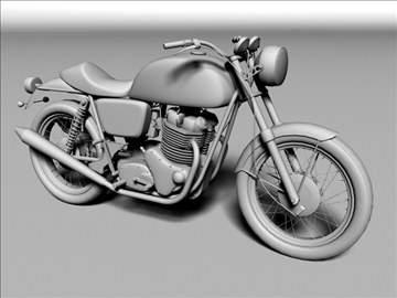 norton 850 commando 3d model 3ds max c4d obj 105335