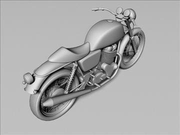 norton 850 commando 3d model 3ds max c4d obj 105336