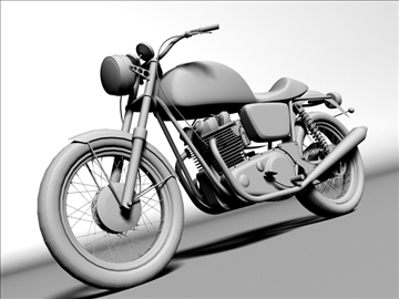 norton 850 commando 3d model 3ds max c4d obj 105337