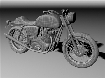 norton 850 commando 3d model 3ds max c4d obj 105338