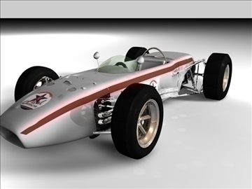old indy concept car 3d model 3ds c4d texture 109117