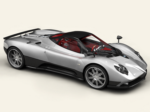 pagani zonda f 3d model 3ds max obj 118298