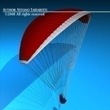 paraglider model 3d 3ds dxf c4d obj 87747