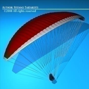 paraglider 3d model 3ds dxf c4d obj 87748