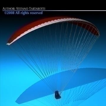 paraglider 3d model 3ds dxf c4d obj 87749
