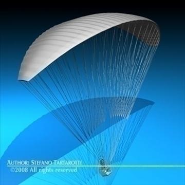 paraglider 3d model 3ds dxf c4d obj 87750