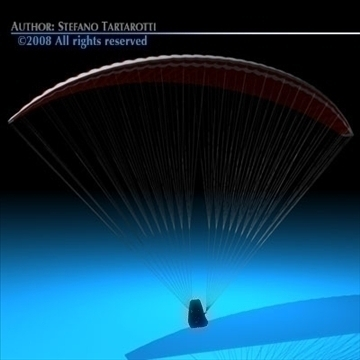 paraglider 3d model 3ds dxf c4d obj 87751
