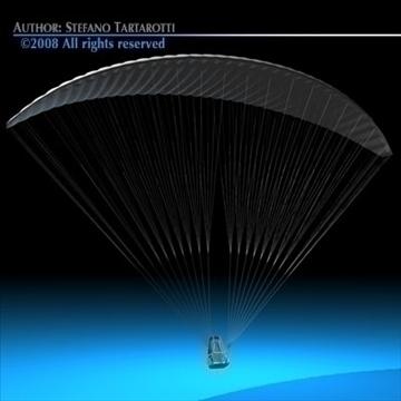 paraglider 3d model 3ds dxf c4d obj 87752