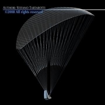 paraglider 3d model 3ds dxf c4d obj 87753