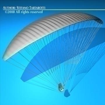 paraglider 3d model 3ds dxf c4d obj 87754