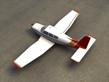 piper cherokee_max.zip 3d model 3ds max lwo ma mb obj 110934
