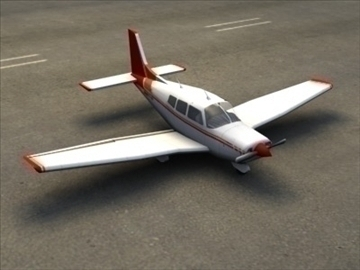 piper cherokee_max.zip 3d model 3ds max lwo ma mb obj 110935