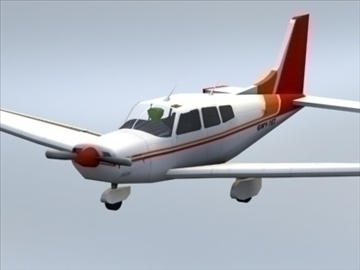 piper cherokee_max.zip 3d model 3ds max lwo ma mb obj 110936