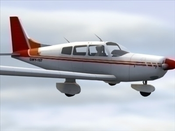 piper cherokee_max.zip 3d model 3ds max lwo ma mb obj 110937