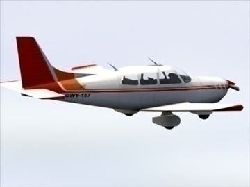 piper cherokee_max.zip 3d model 3ds max lwo ma mb obj 110938