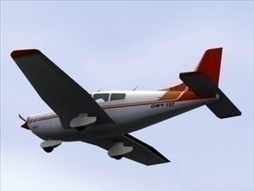 piper cherokee_max.zip 3d model 3ds max lwo ma mb obj 110939