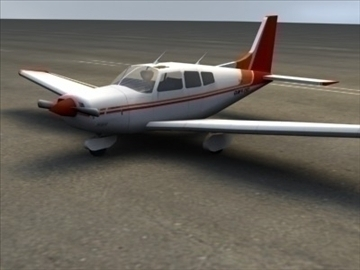 piper cherokee_max.zip 3d model 3ds max lwo ma mb obj 110942