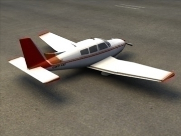 piper cherokee_max.zip 3d model 3ds max lwo ma mb obj 110943