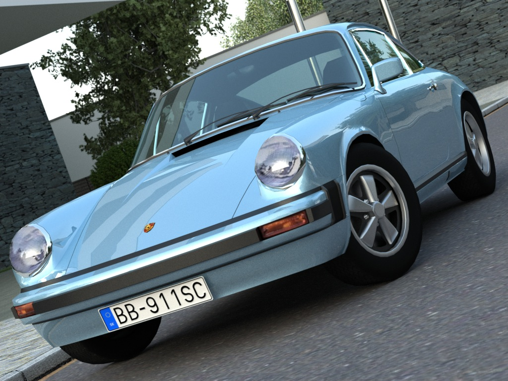 porsche 911 (1976) 3d model 3ds max fbx c4d obj 84577