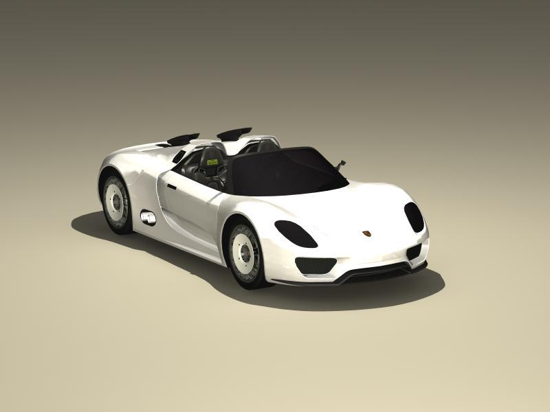 porsche 918 spyder konsepsiyası 3d modeli 3ds max fbx obj 147954