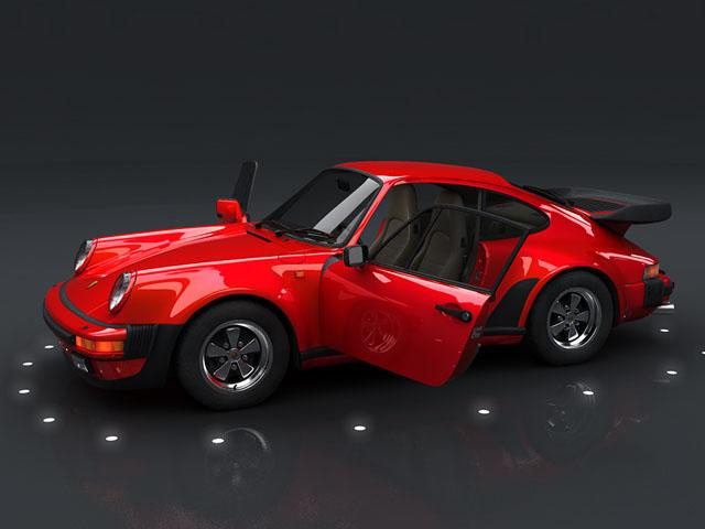 porsche 930 turbo 3d model 3ds max obj 124816