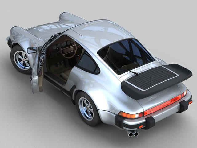 porsche 930 turbo 3d model 3ds max obj 124819