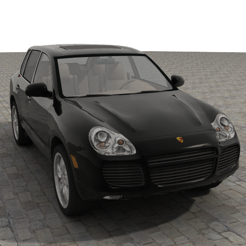 porsche cayenne turbo 2005 3d model 3ds max jpeg jpg lwo obj 109605