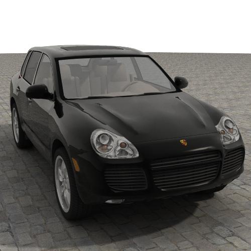 porsche cayenne turbo 2005 3d líkan 3ds max jpeg jpg lwo obj 109605