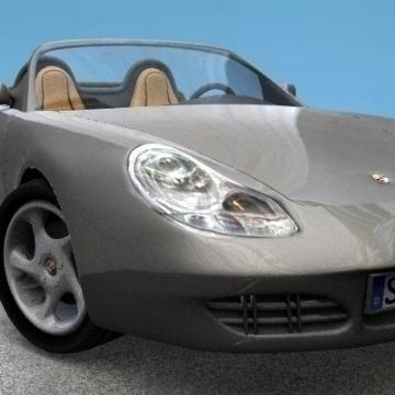 porshe boxter 3d model 3ds lwo 78160