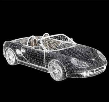 porshe bokser 3d model 3ds lwo 78161