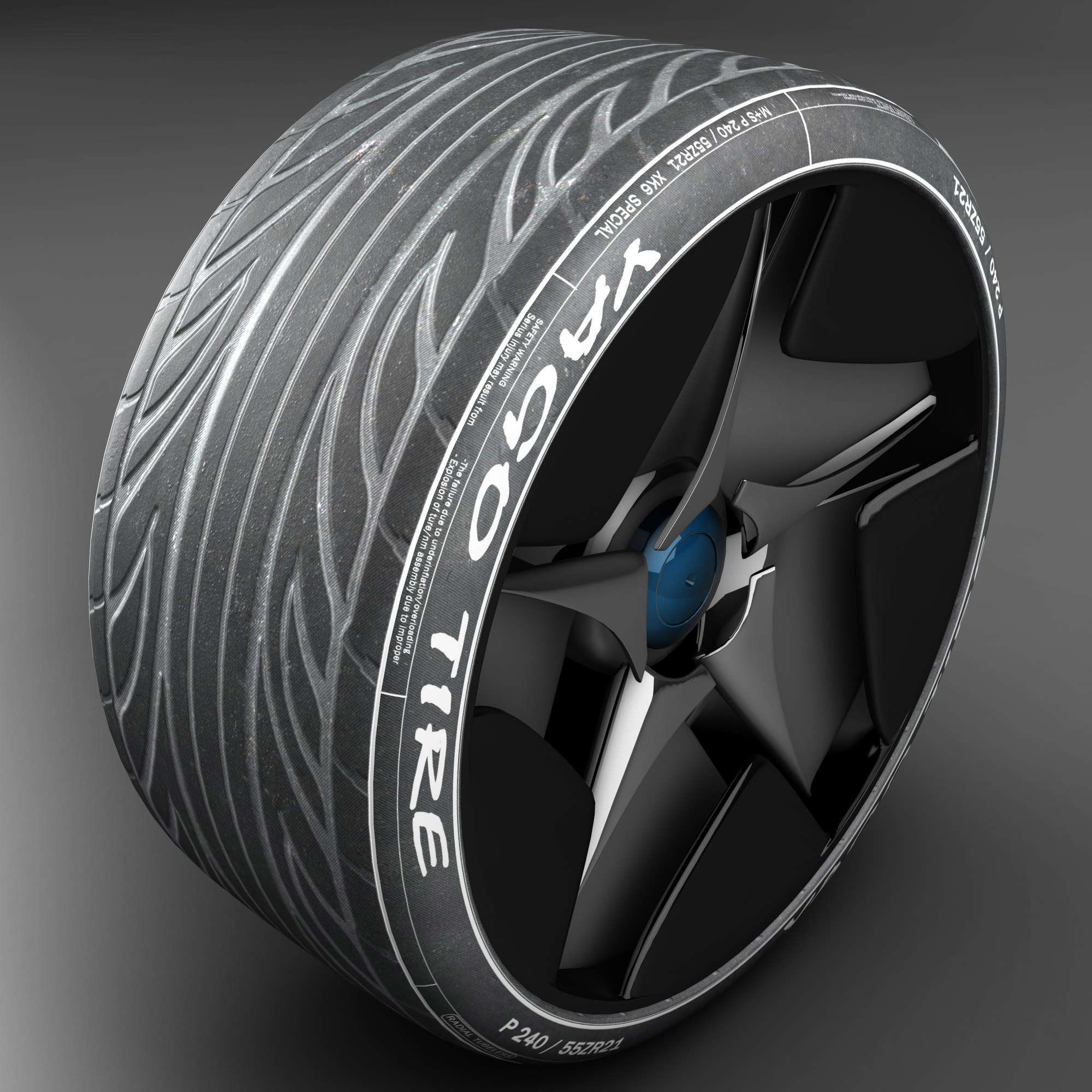 racing tire 3d model 3ds max fbx ma mb obj 157422