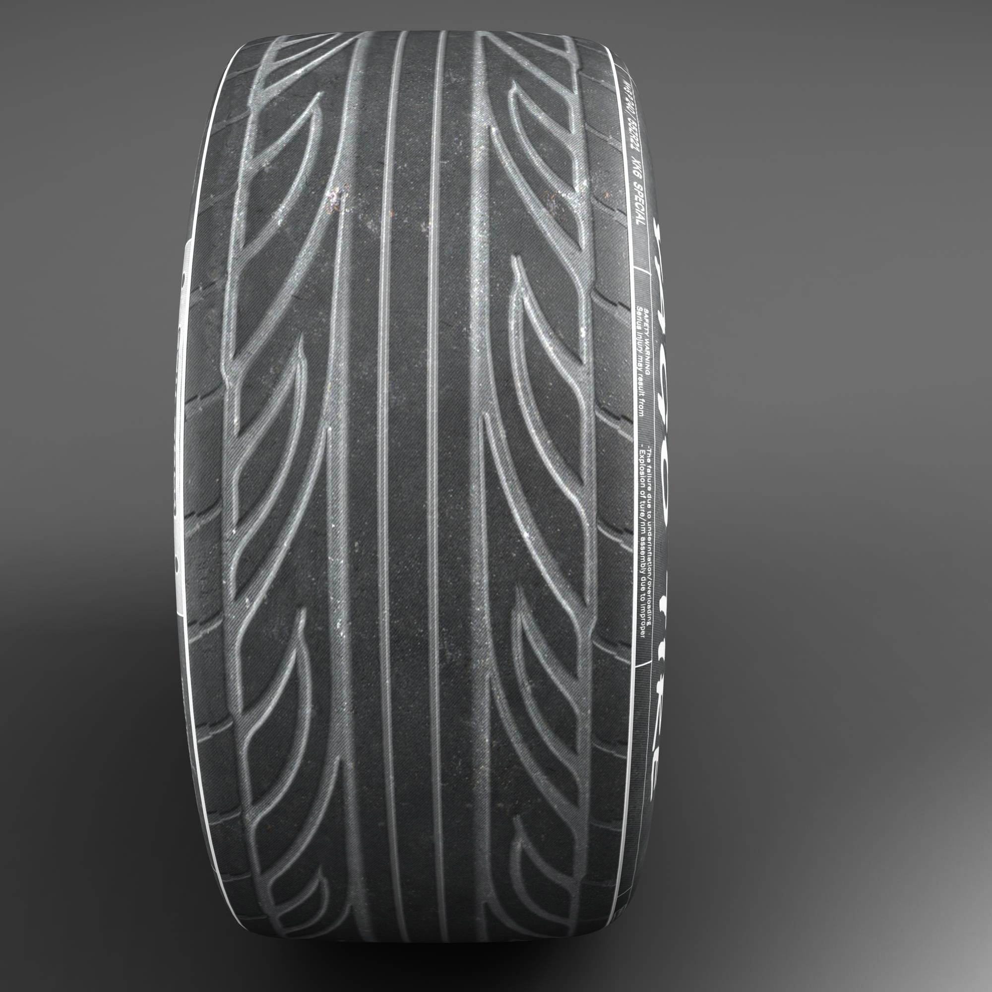 racing tire 3d model 3ds max fbx ma mb obj 157423