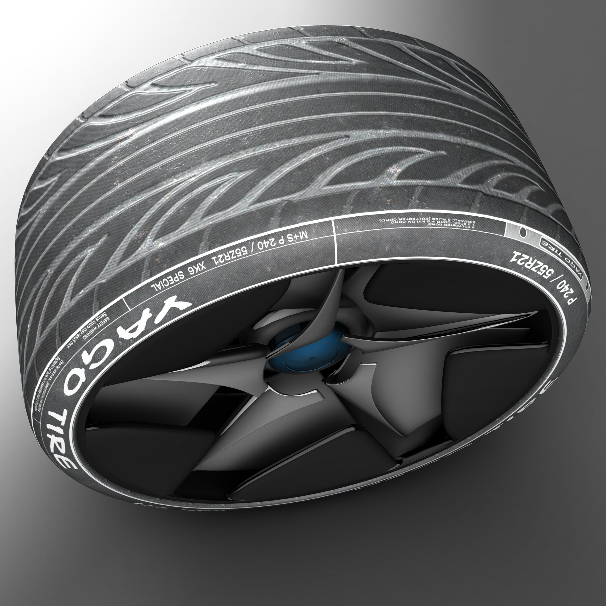 racing tire 3d model 3ds max fbx ma mb obj 157424