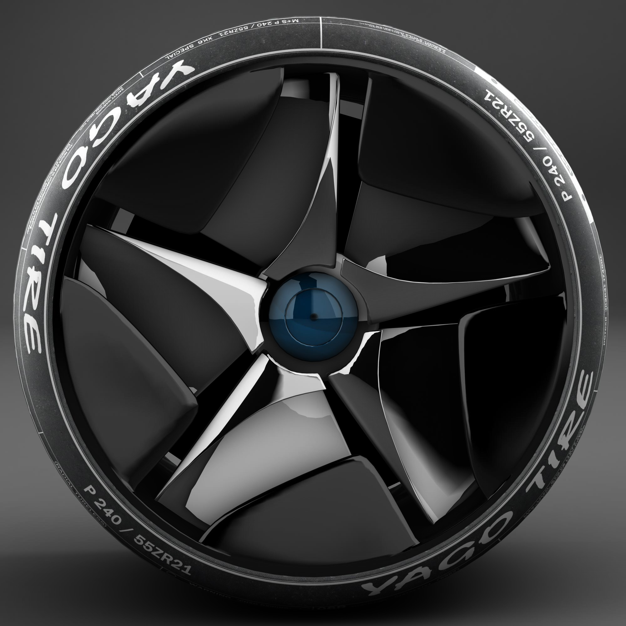 racing tire 3d model 3ds max fbx ma mb obj 157425