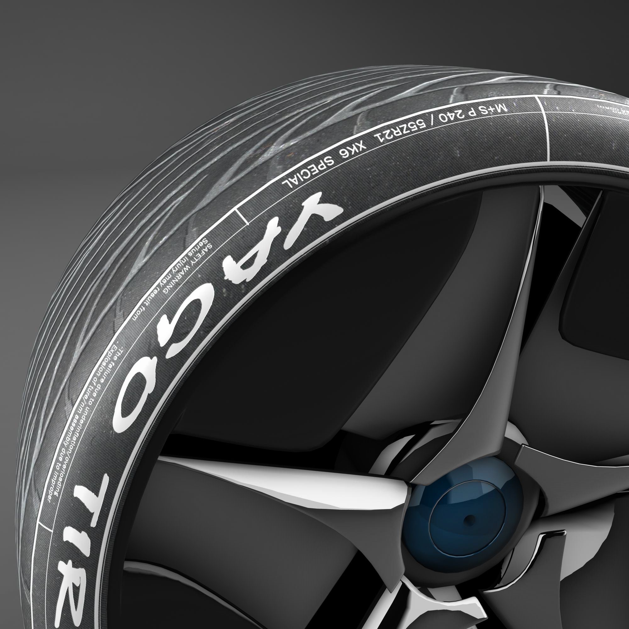 racing tire 3d model 3ds max fbx ma mb obj 157426